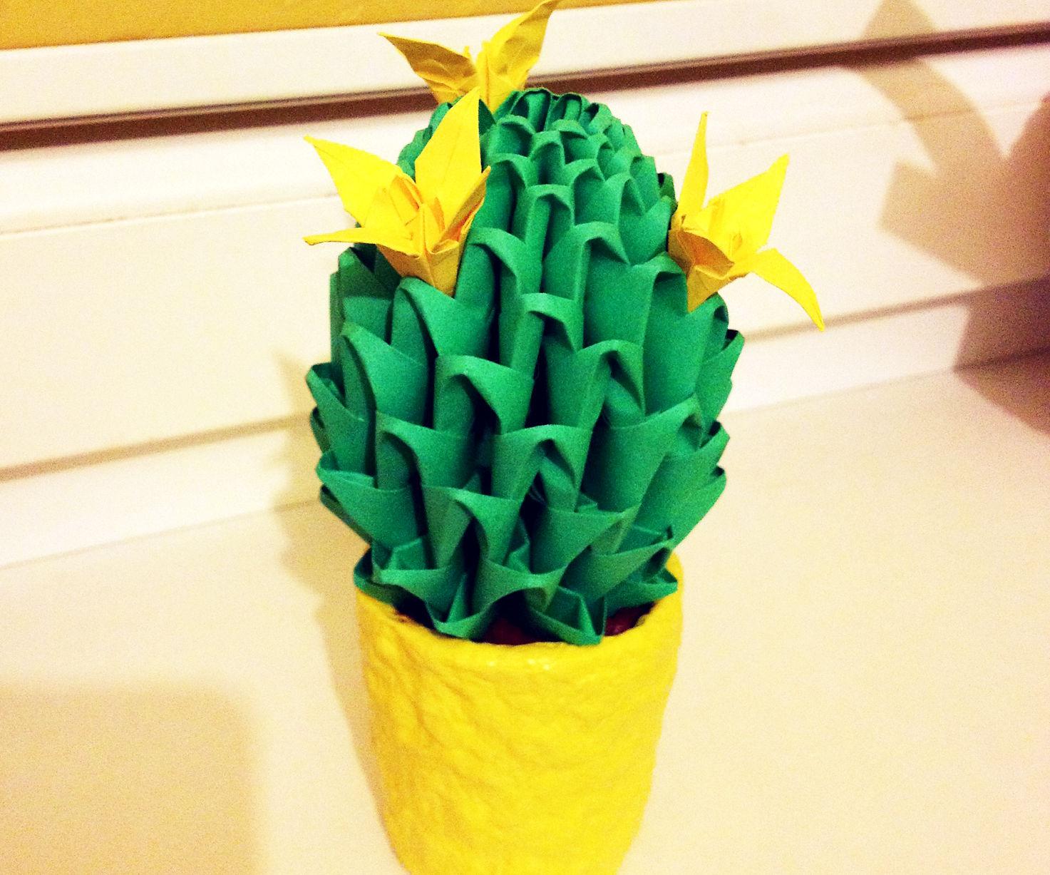Origami Cactus