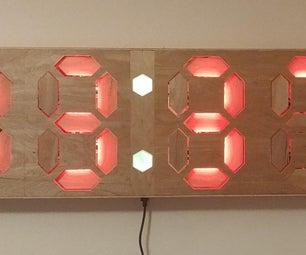 Kinetic Seven Segment Clock