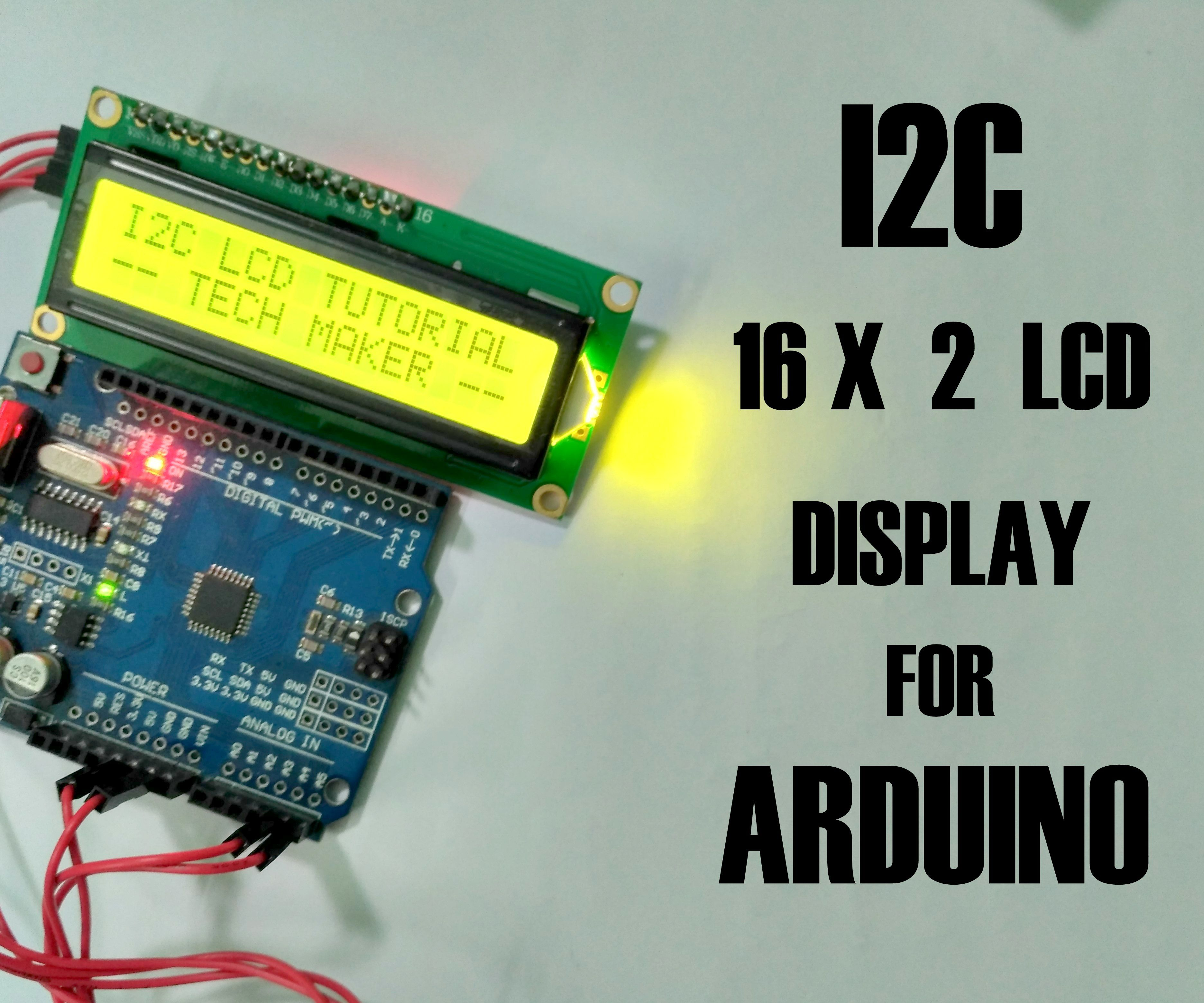 How to Connect I2C Lcd Display to Arduino Uno