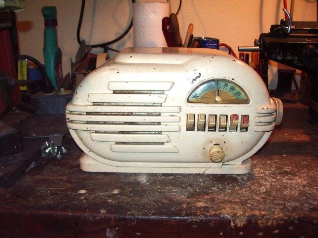"Repairing a ""pig"" radio housing"