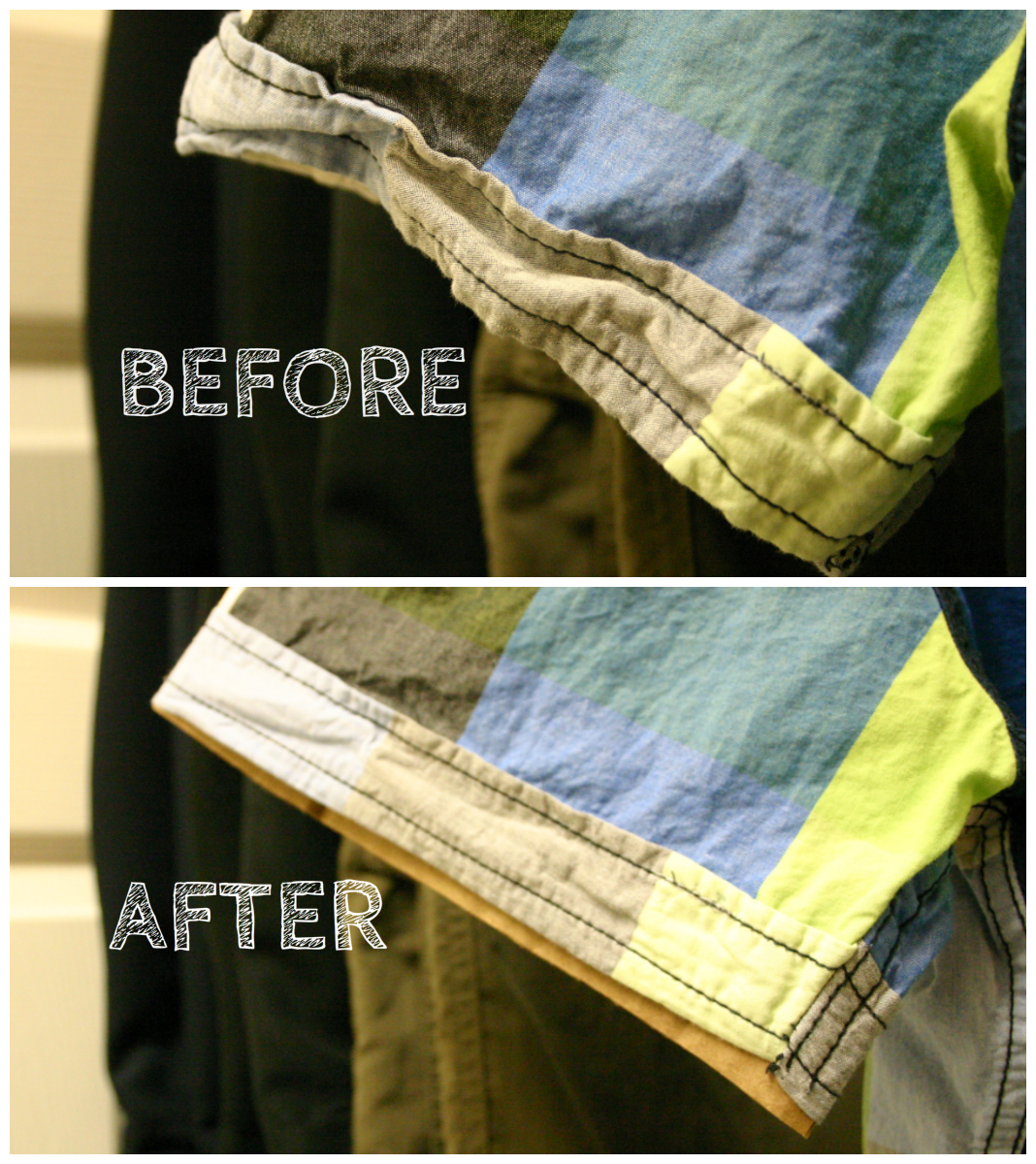 Fix crumpled short sleeves without ironing.