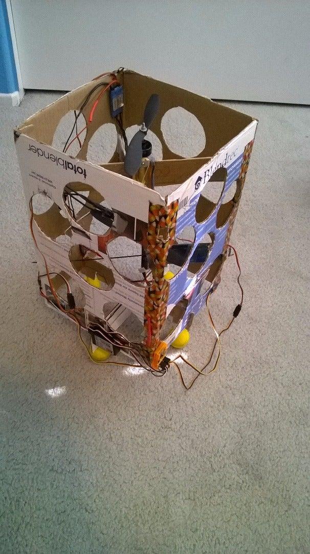 The Flying Gyro Stabilized VTOL Cardboard Box