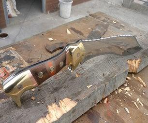 Making Kukri Style Bowie Knife