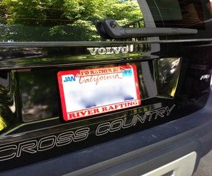 Laser-cut Acrylic License Plate Frame