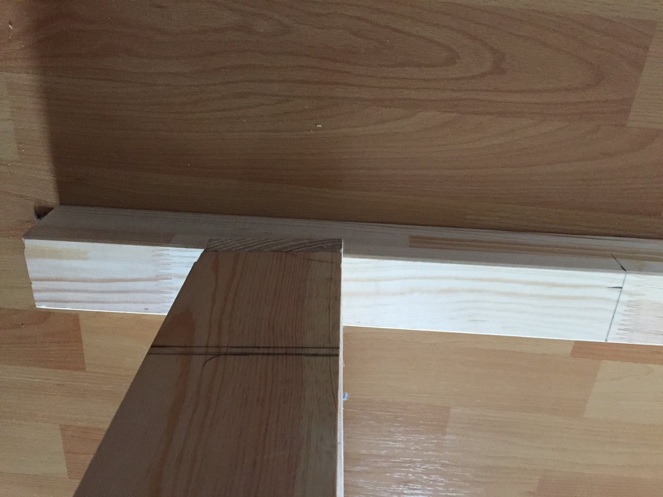 Mark the Posts (bed Legs) for Placing the Bed Frame and the Guard Rails