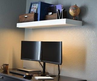 Hidden LED Floating Shelf