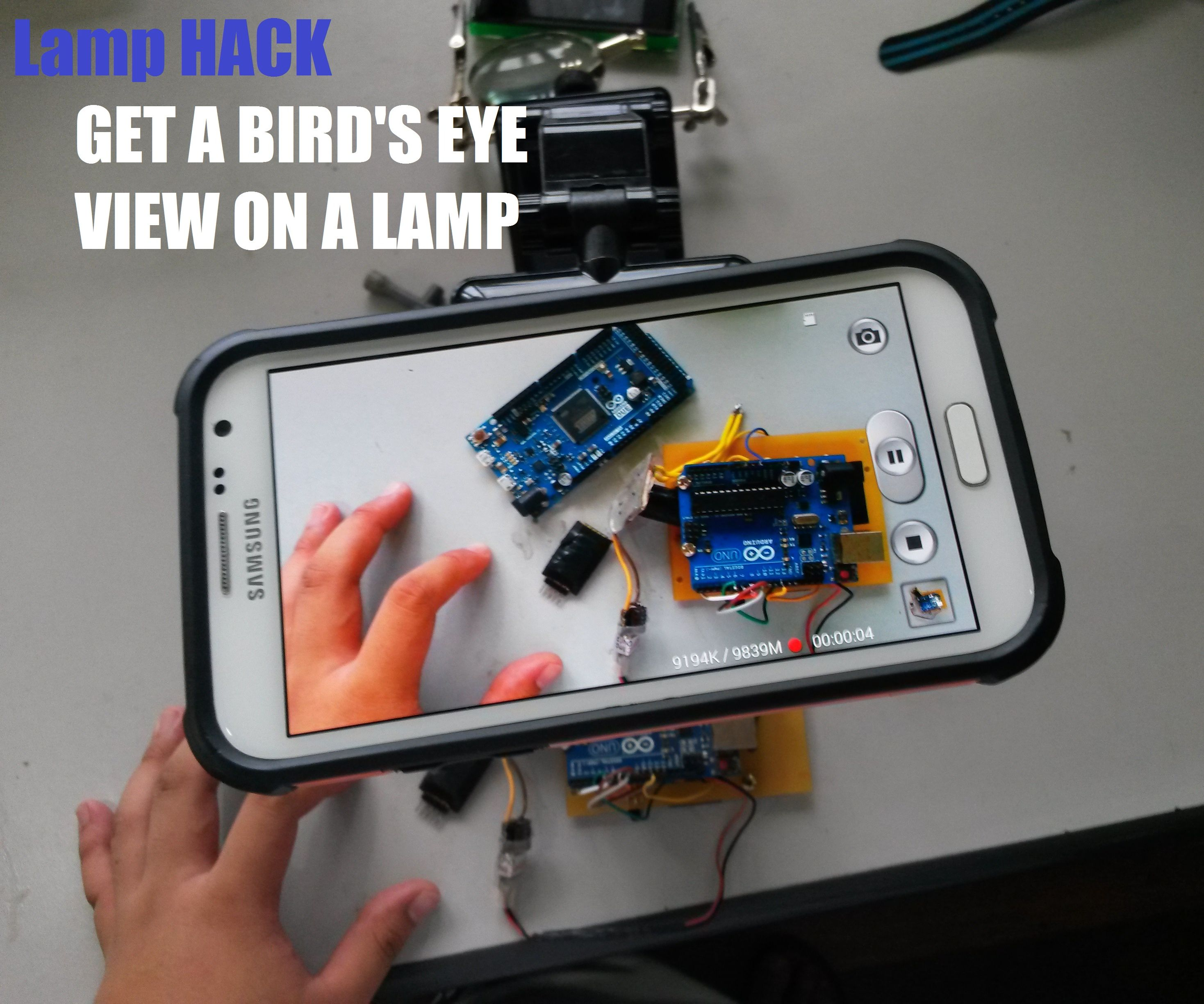 Get a Birds eye view with a little [HACK, 3D PRINT or DIY]