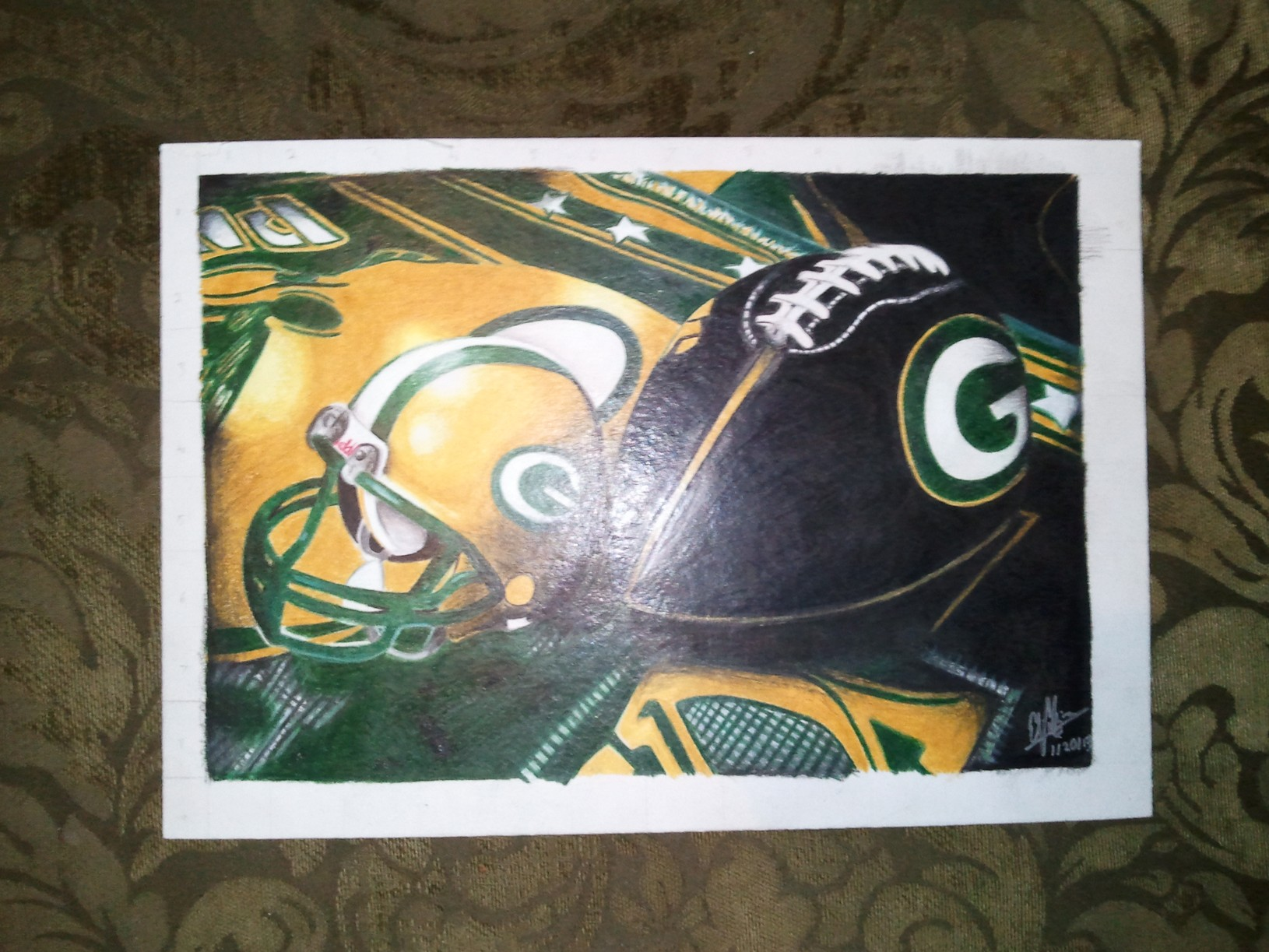 How to Draw my Green Bay Packer Drawing's
