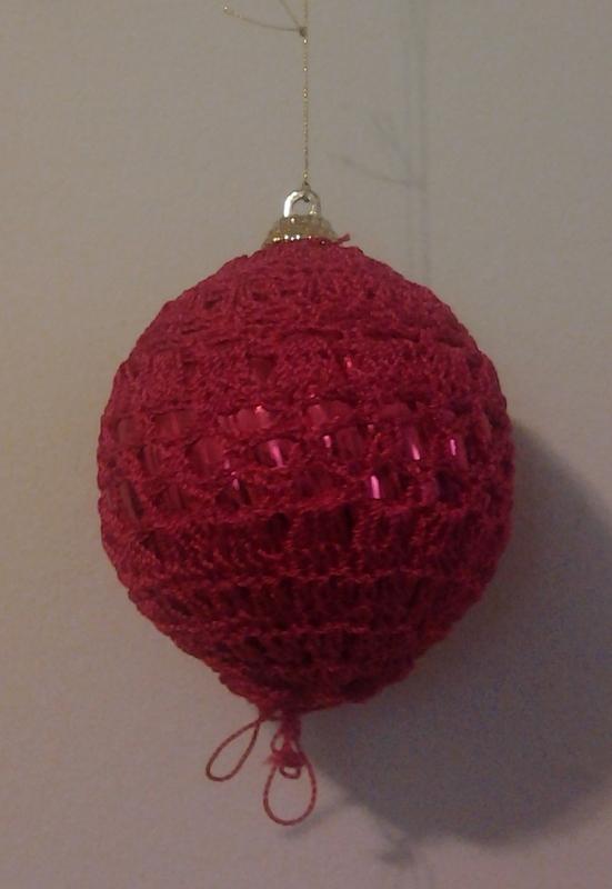 crochet liners for chritmas ball