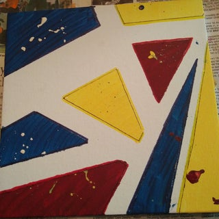 Making an Abstract Painting With Masking Tape