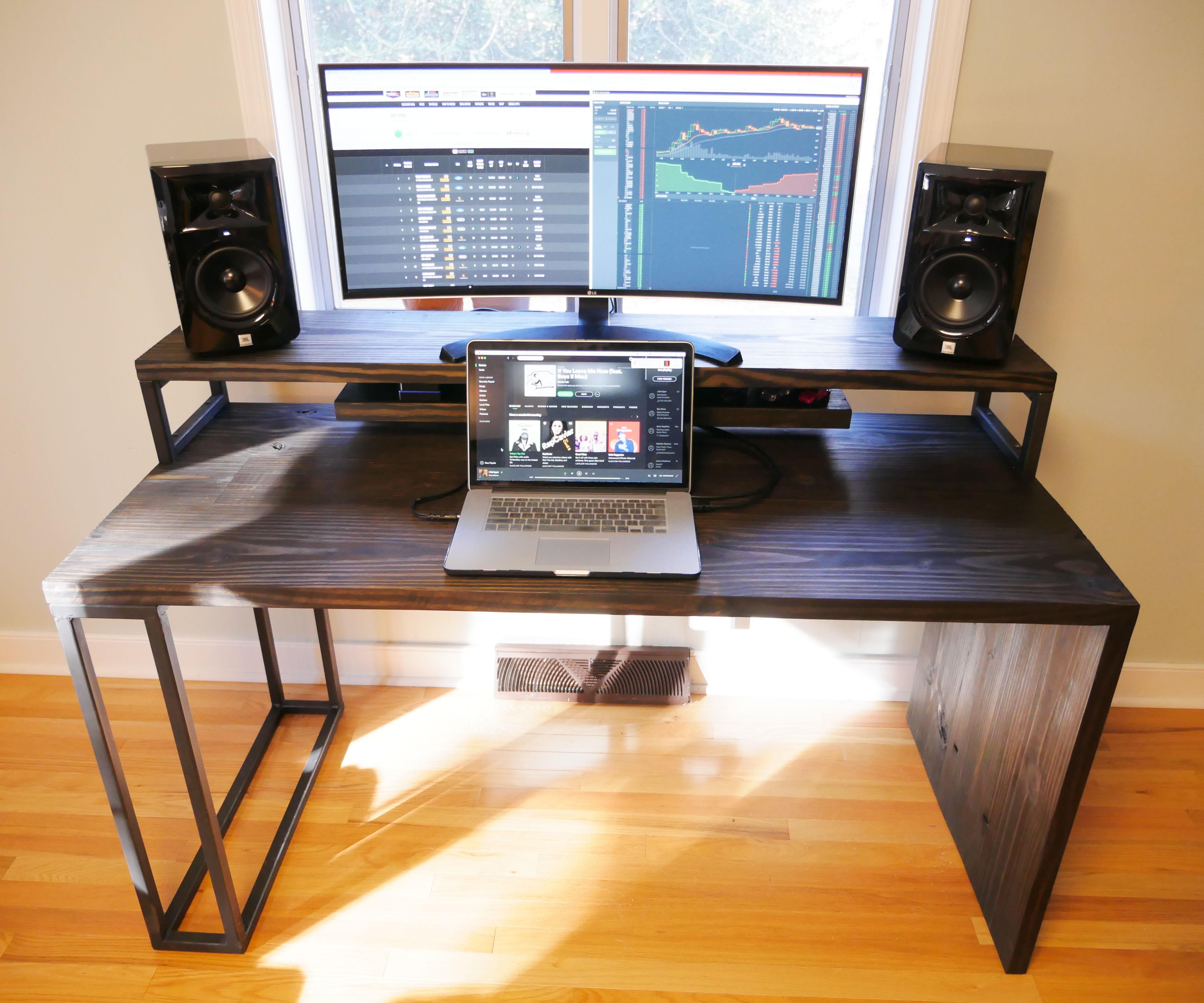 DIY Video Editing Desk