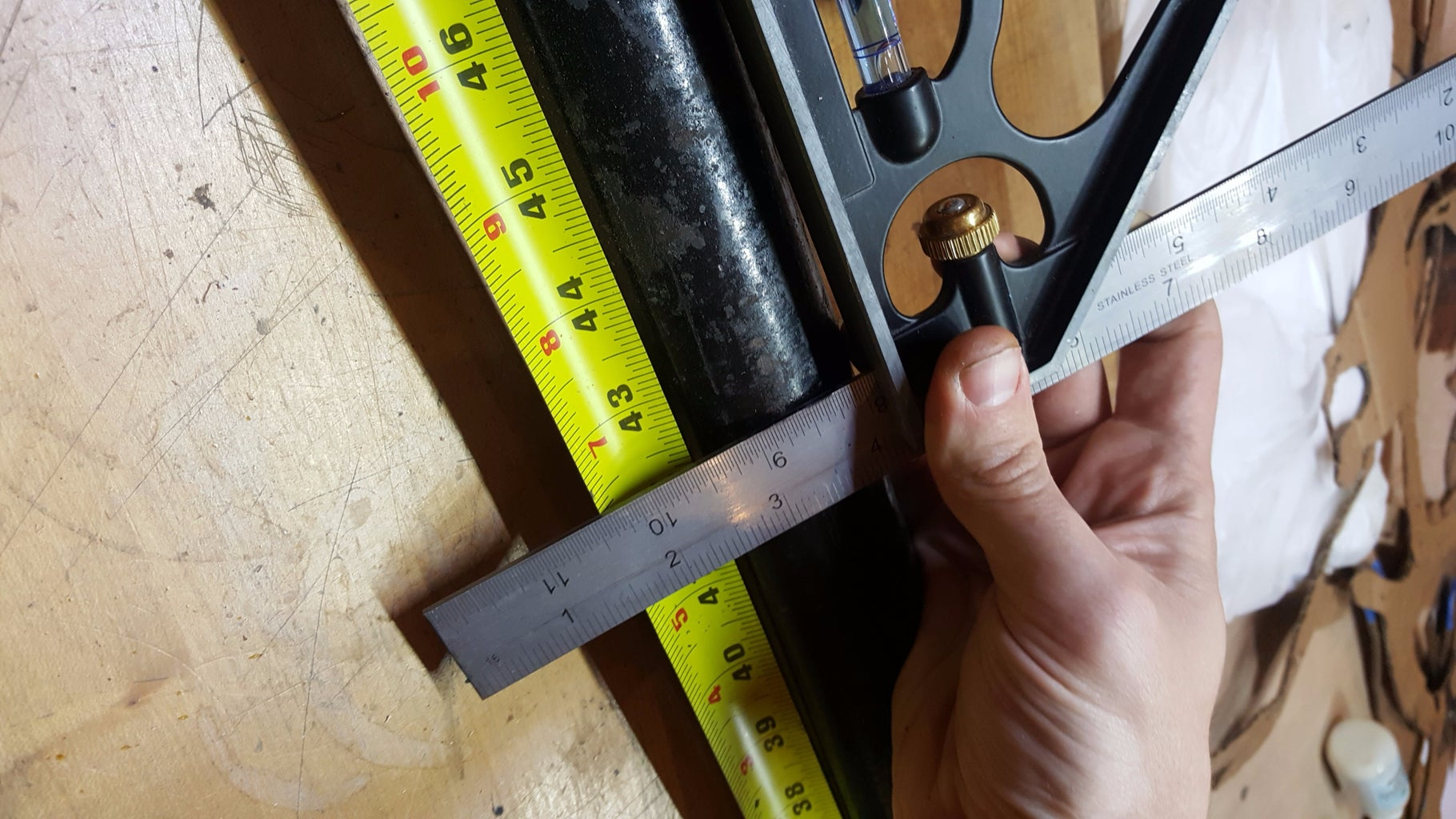 Marking the Length of Your 2in Pipe