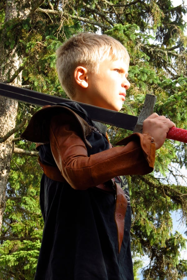 Leather Play Clothes for a Tough Kid (Bran Stark Sleeves)