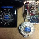 Low tech Rotary Phone made wireless.