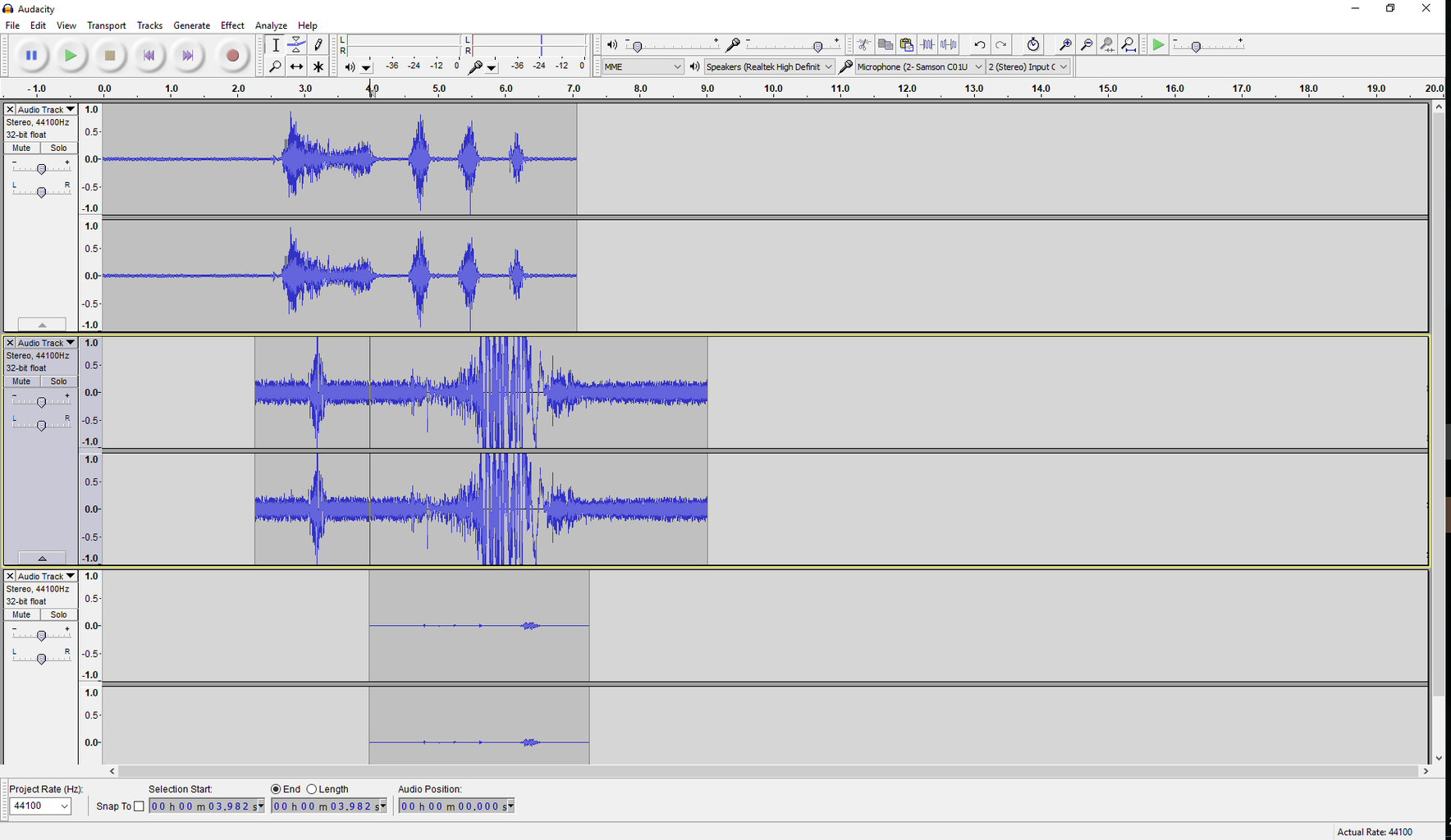 Amateur Voice-overs With Audacity