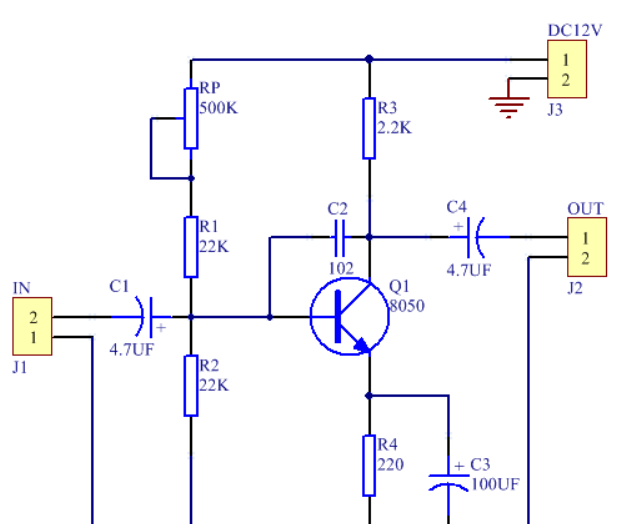 DIY a Basic Common Emitter Amplifier for School Studying