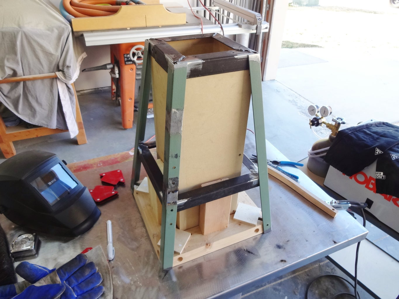 Finish Welding Stool Frame, Clean Up Welds
