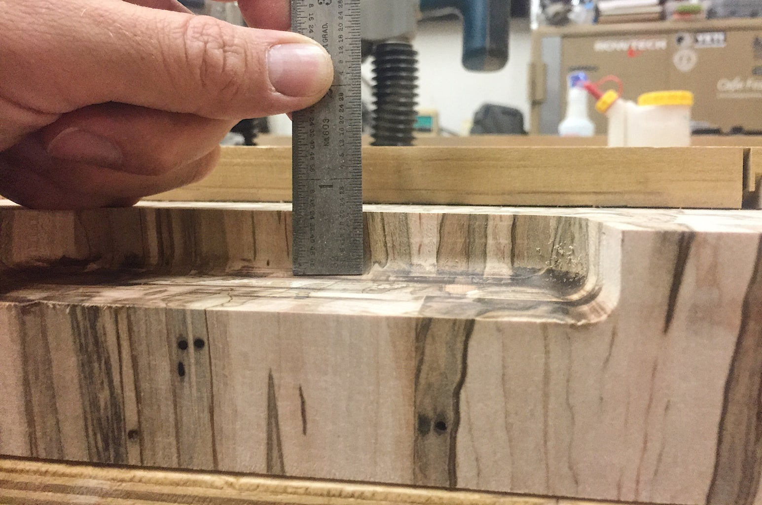 Finish at Desired Depth of Handle