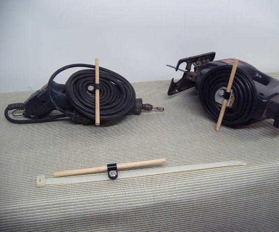 Zip Tie Cord Management Idea