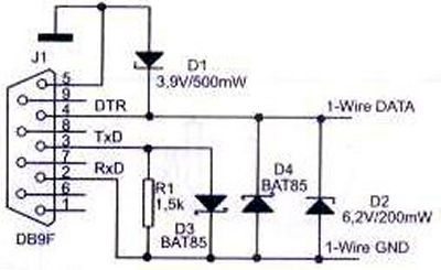 1-wire communication interface
