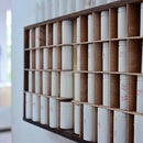 Shelves Made of Old Drawers