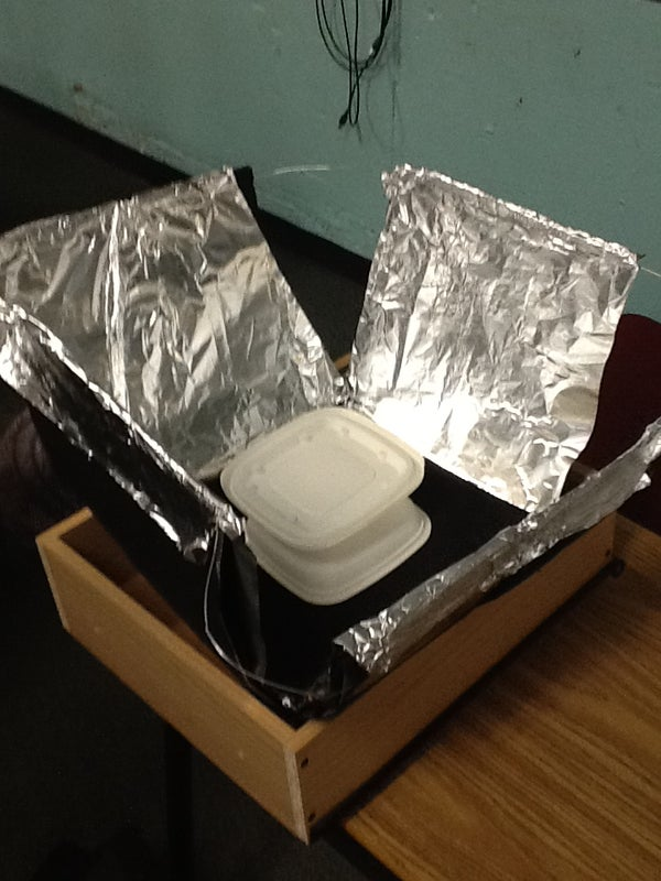 Jeremy's Solar Oven Using Reused and Recycled Materials