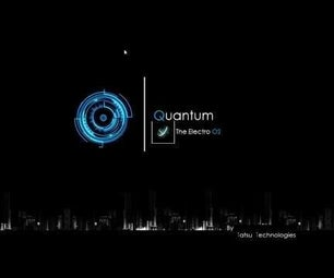 Boot Up Screen of Quantum the Electro OS | Tatsu Technologies | Industrial Revolution(coming Soon)