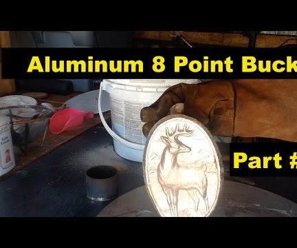 Aluminum Sand Casting = 8 Point Buck Plaque