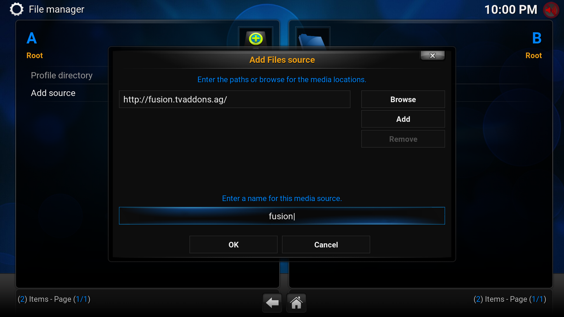 Add the Fusion Installer