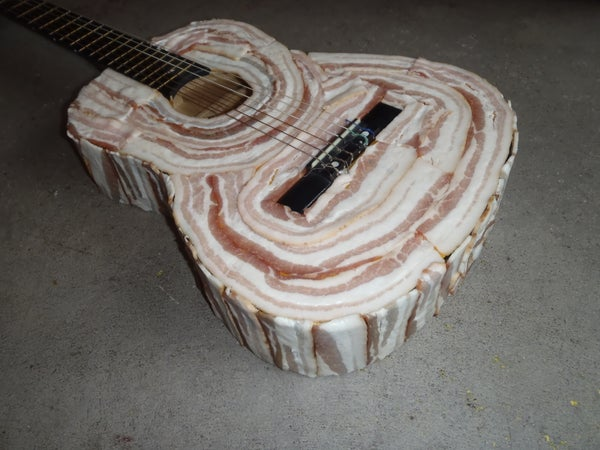 """Bacon Love Blues"" on a Bacon Guitar"