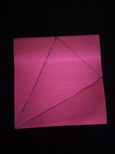 Drawing the Triangle on the Post-it
