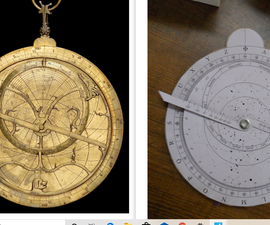 ASTROLABE - Made Using Paper (medieval Astronomical Instrument)
