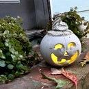 DIY Halloween Cement Jack O' Lantern