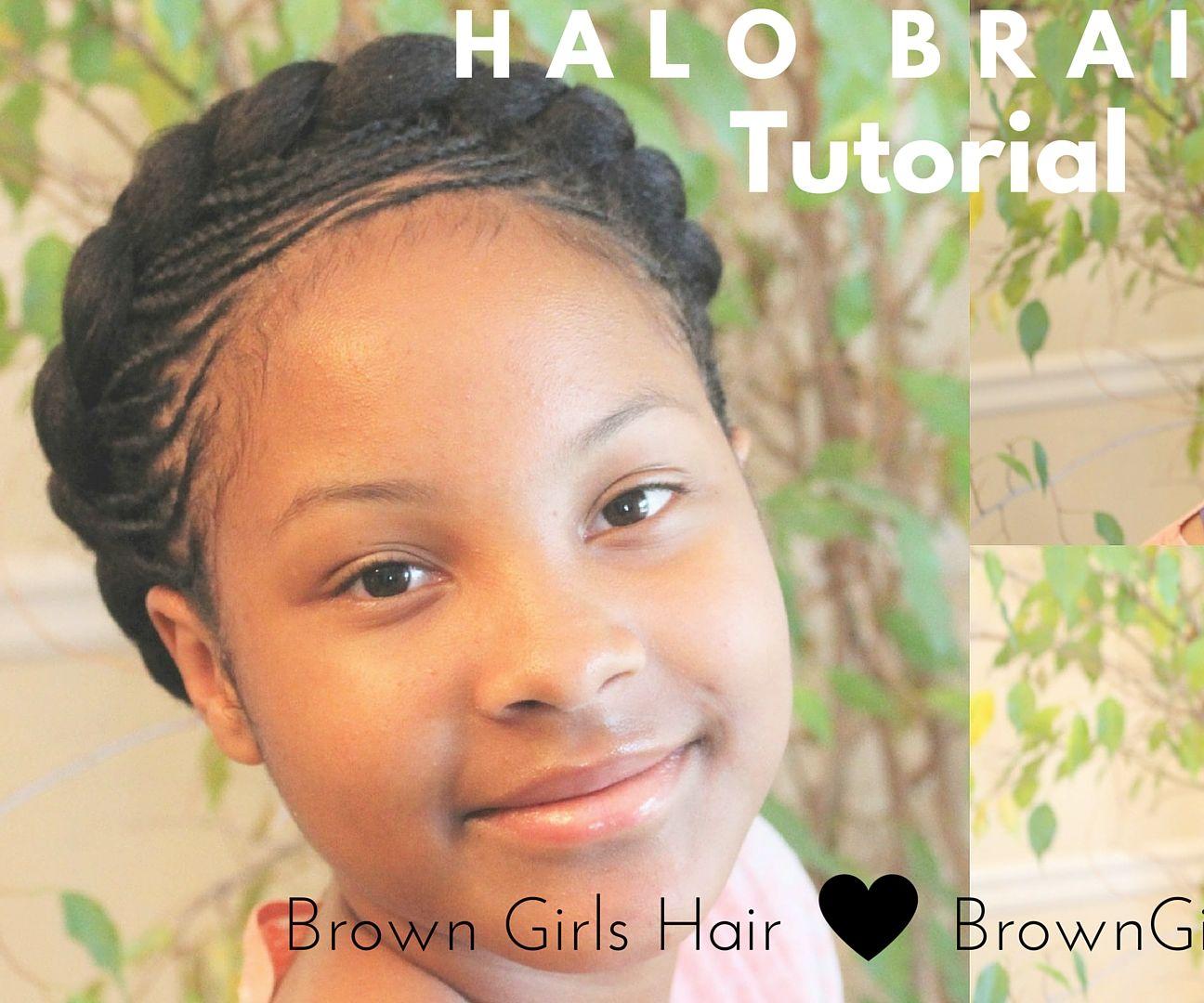 Halo Braids Hair Tutorial