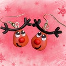 Handmade Reindeer earrings