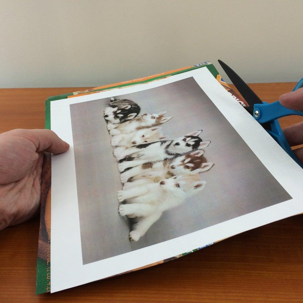 Adhering the Photo to Cardboard.