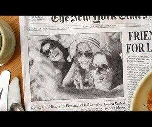 Create a Newspaper Photo Effect & Custom Headline in Photoshop!