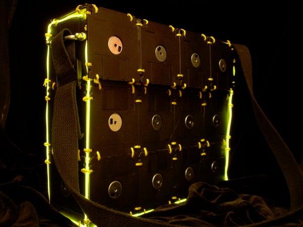 Floppy Disk Bag Retrofit: EL Wire