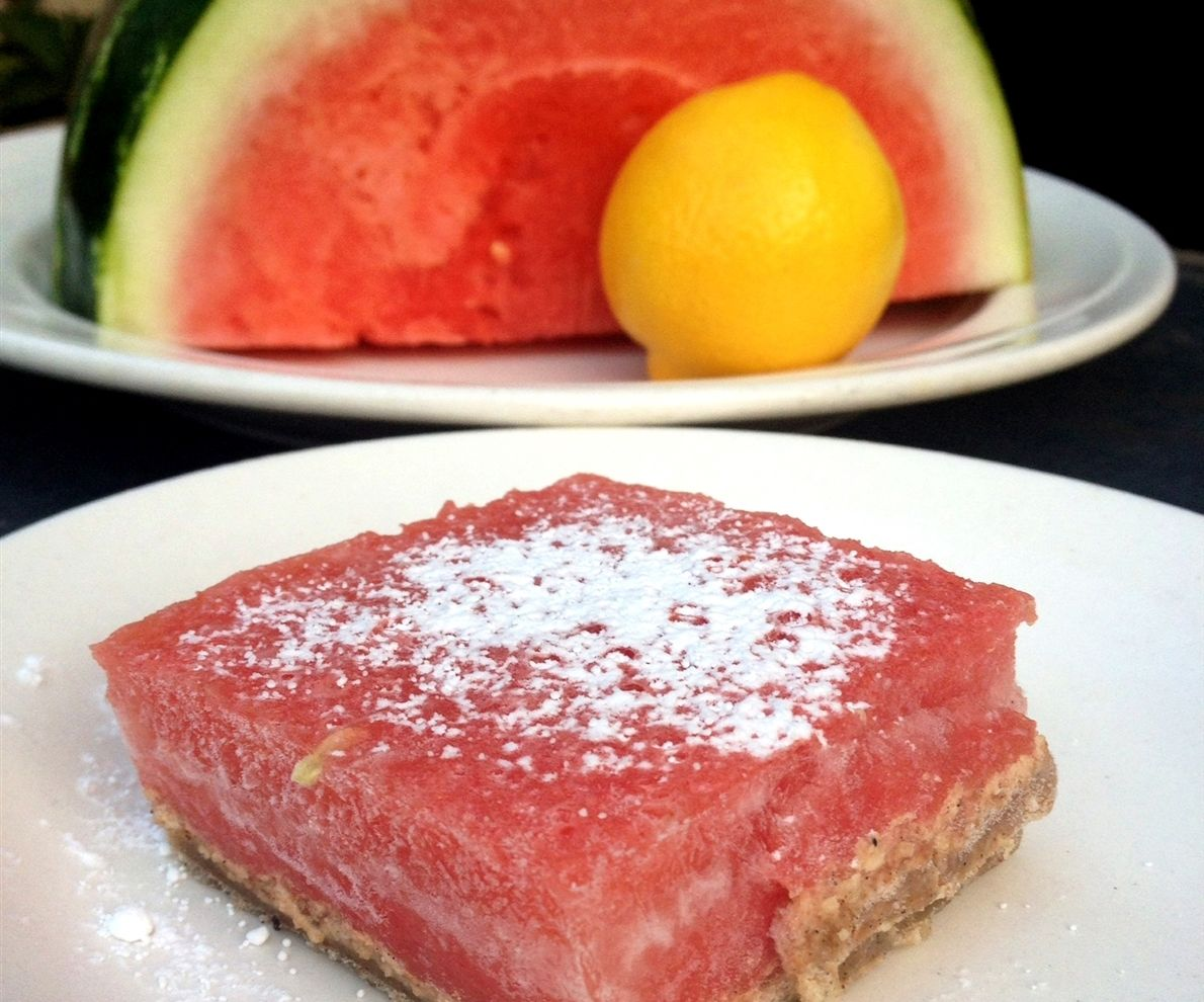 Sweet & Sour Watermelon-Lemon Dessert Bars