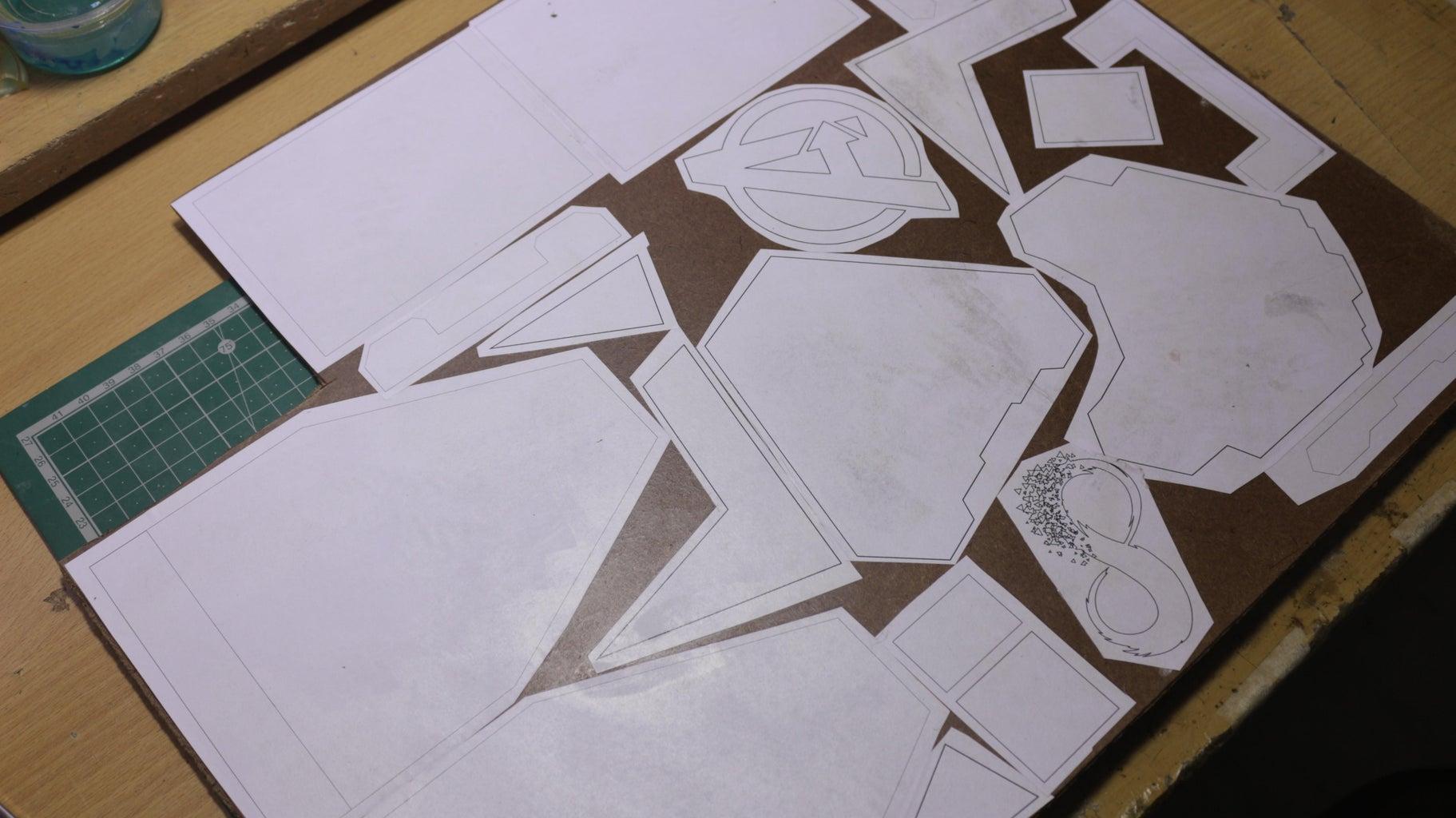 Transferring the Templates on Cardboard