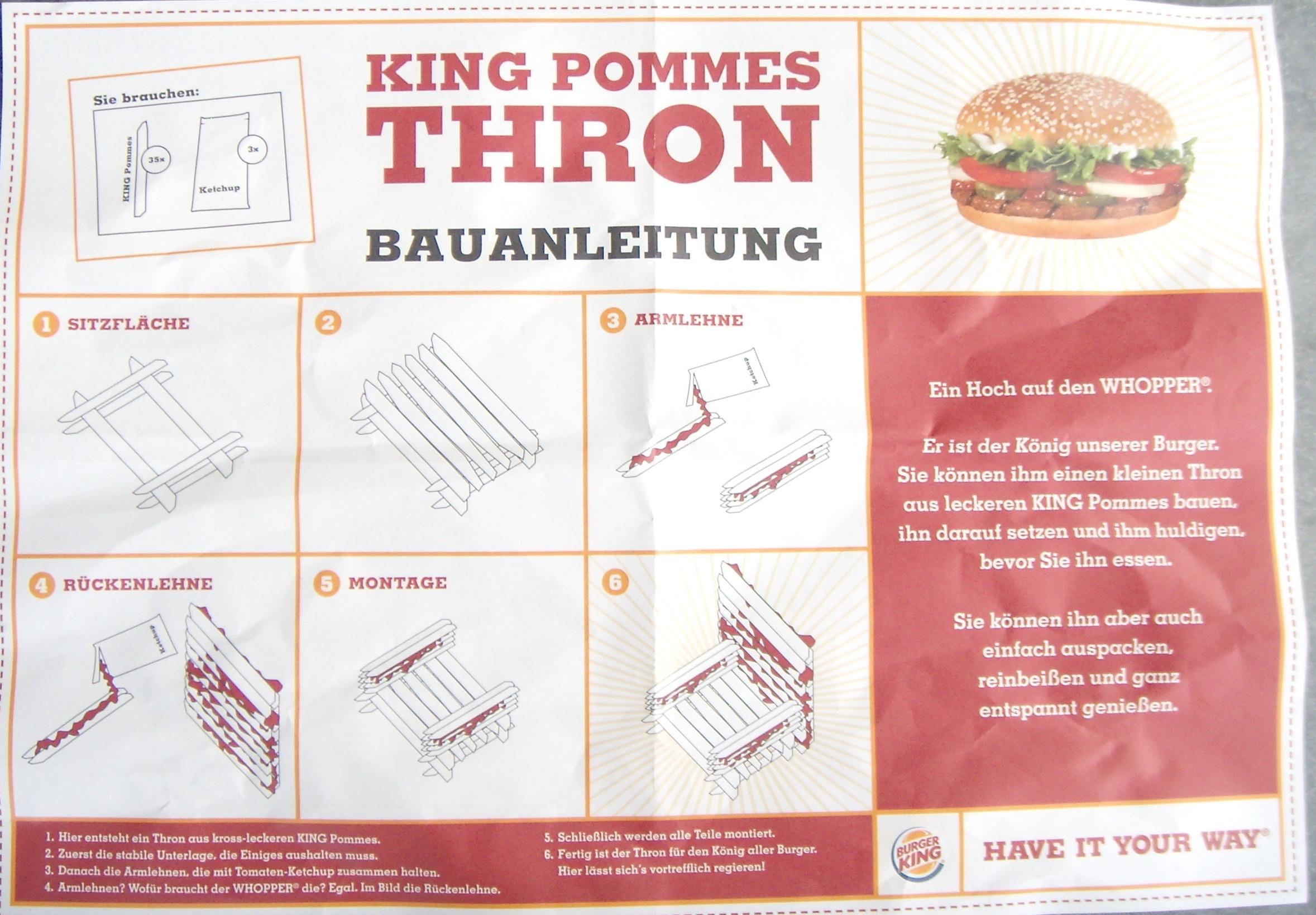 Weird Burger Throne (found Instructable)