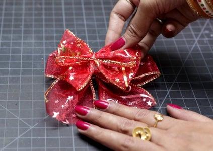 Christmas Bow Making Step-3
