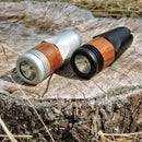 Durable Flashlight With Wooden Accent