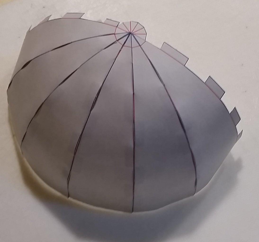 Paper Globe: 12-gore Pattern