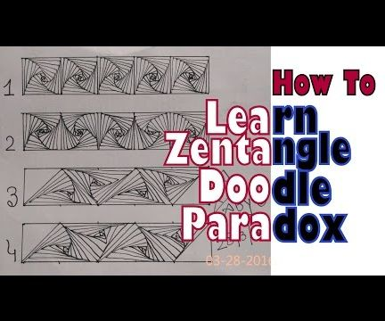 Zentangle Doodle Paradox Variations. Learn How To