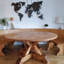 Rustic Round Farm House Table