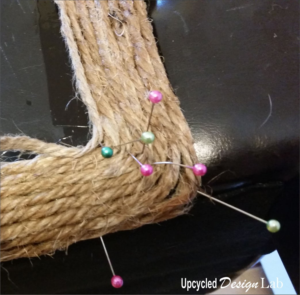 Choosing the Pattern and Gluing the Twine in Place.