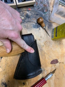 Molding and Buttoning the Flap