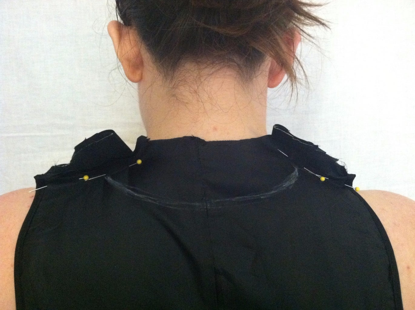 Drawing and Cutting the Neckline
