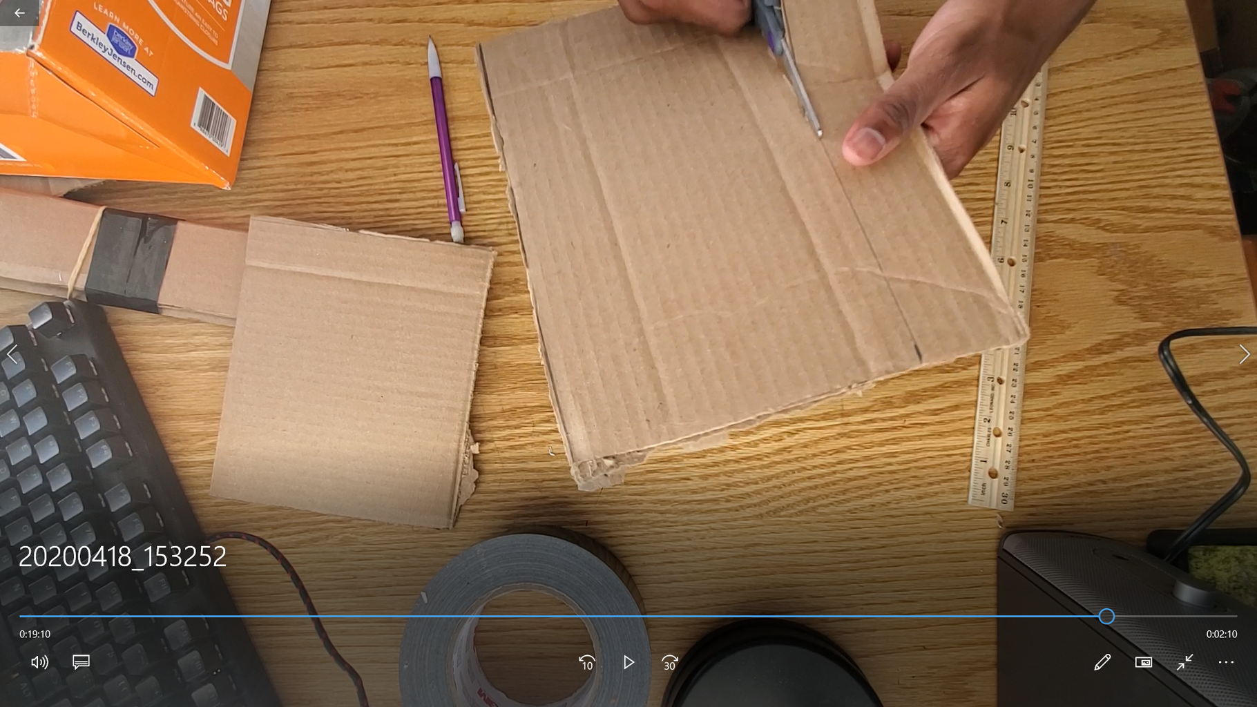 Make a Cardboard Bar Over the Arm